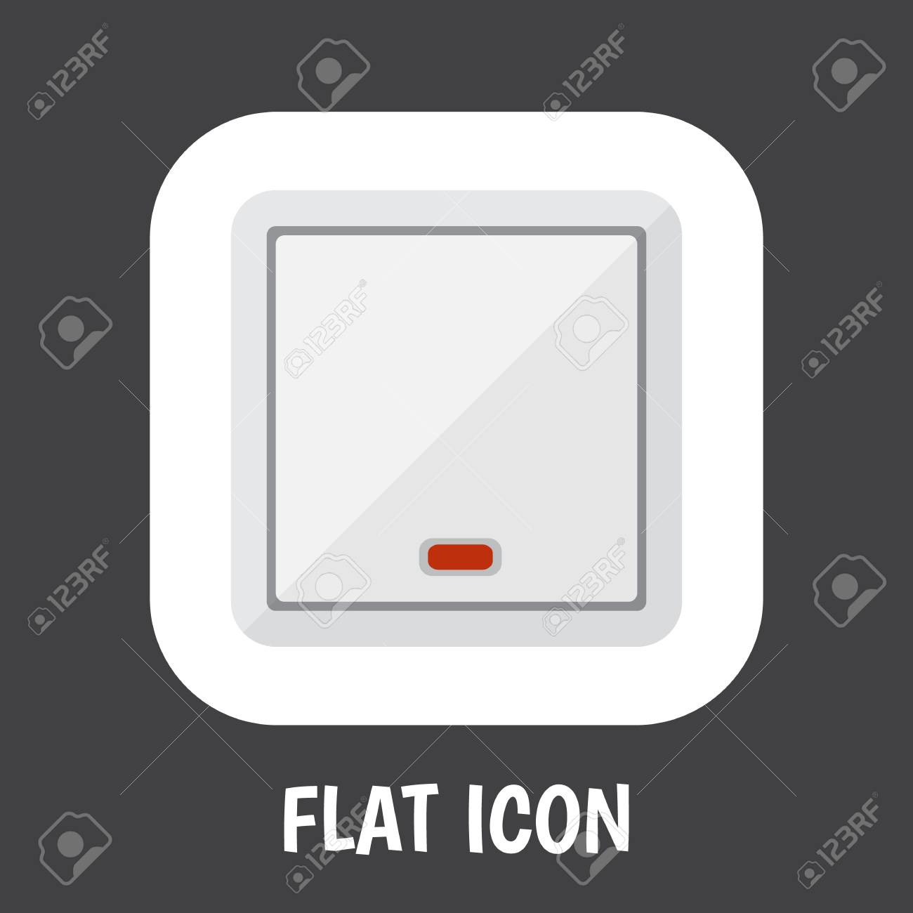 A Vector Illustration Of Electrical Symbol On Light Icon Flat ...