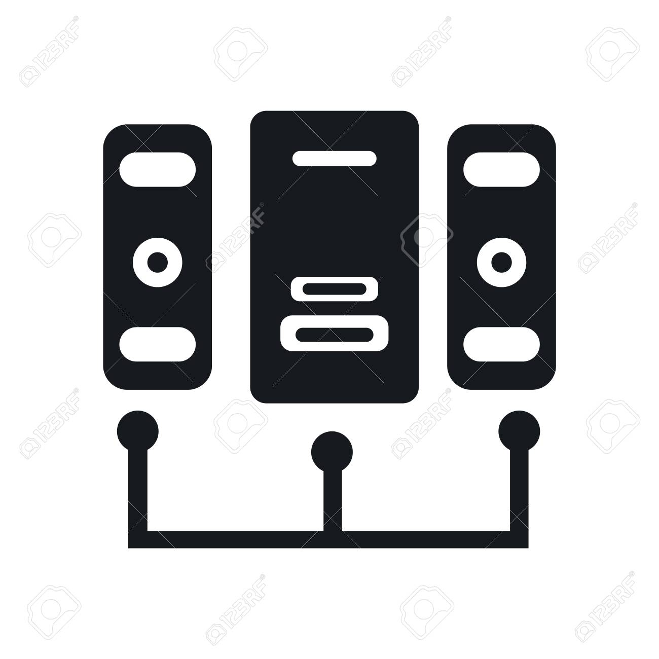 Server icon vector isolated on white background for your web