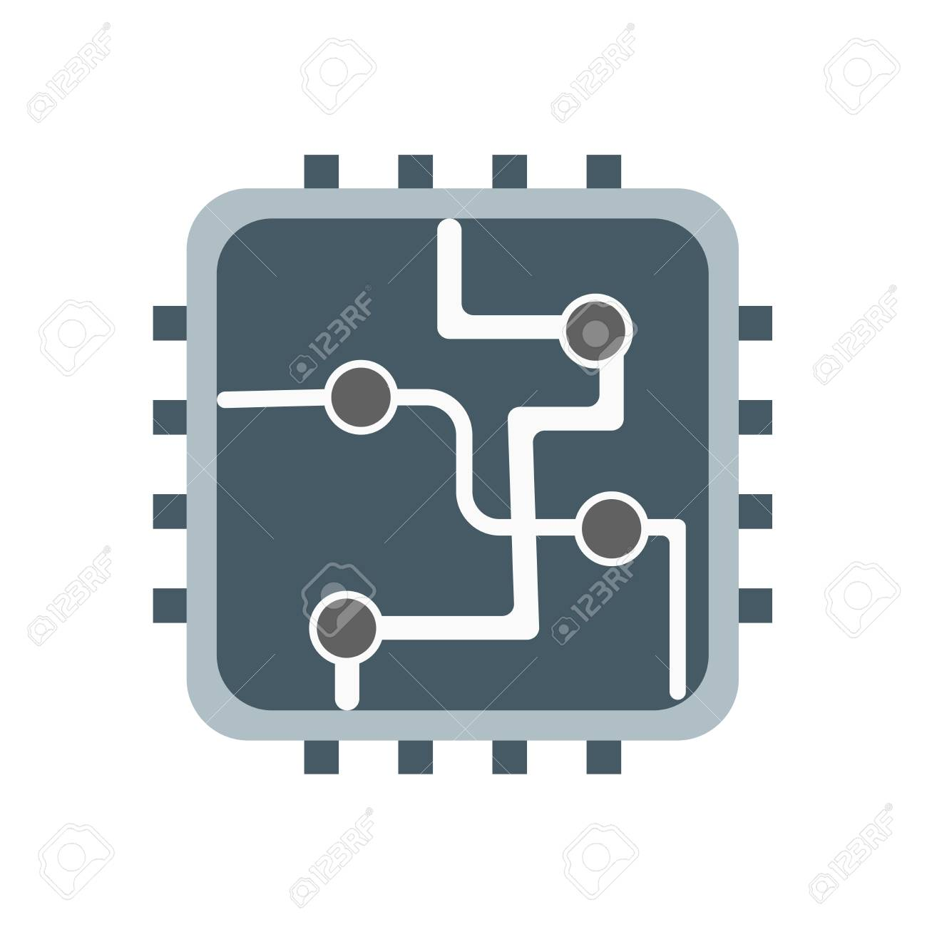 Circuit icon vector isolated on white background for your web