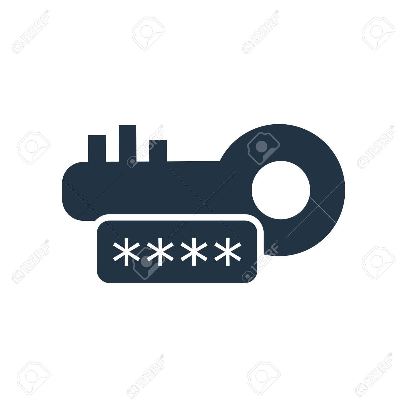 123Rf Password password icon vector isolated on white background, password