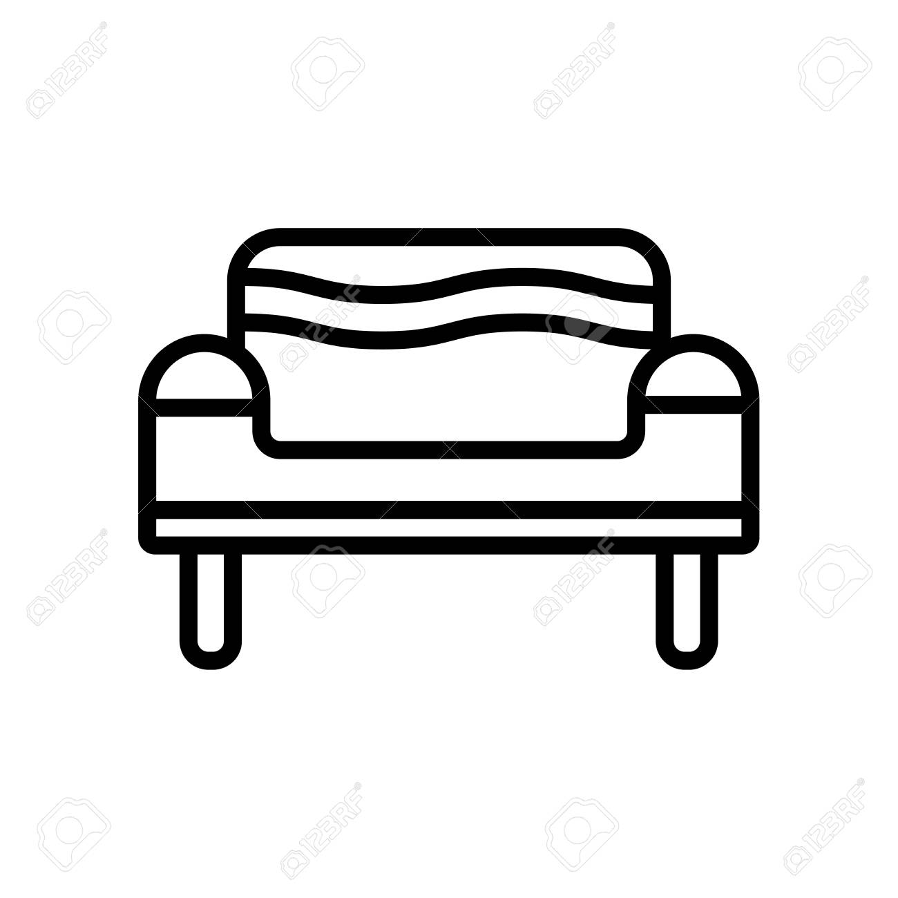 Brilliant Couch Icon Vector Isolated On White Background Couch Transparent Pabps2019 Chair Design Images Pabps2019Com