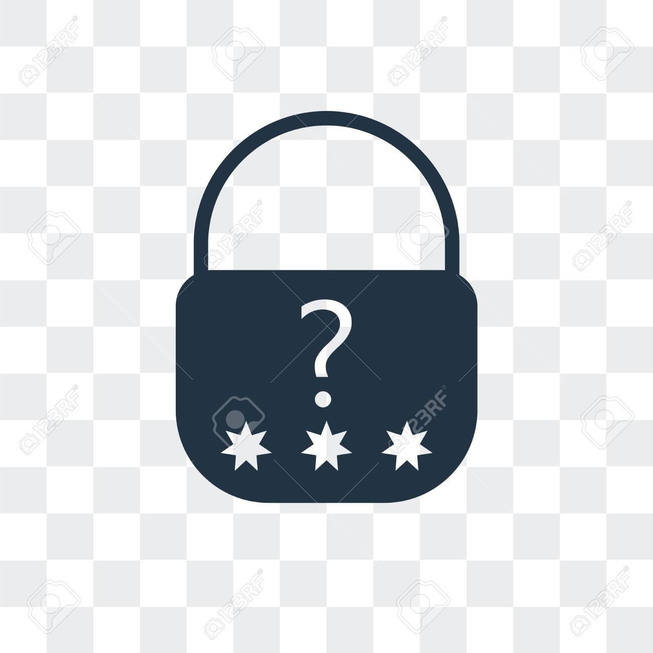 123Rf Password password vector icon isolated on transparent background, password