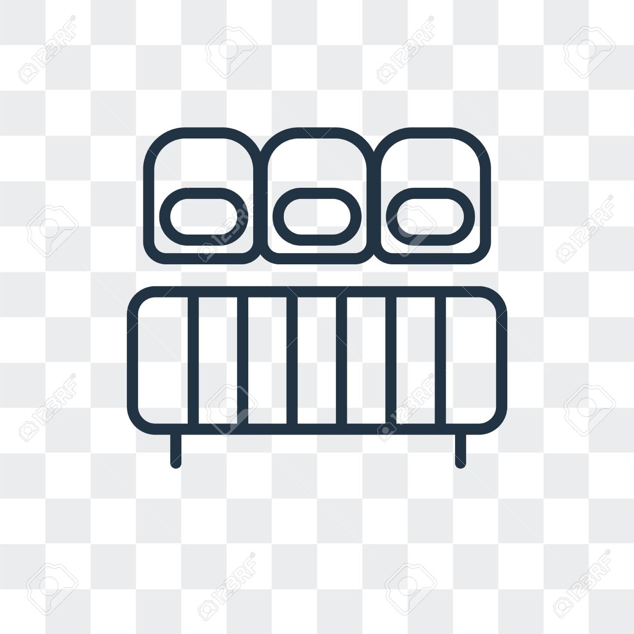 Mattress Vector Icon Isolated On Transparent Background Mattress Royalty Free Cliparts Vectors And Stock Illustration Image 107211664