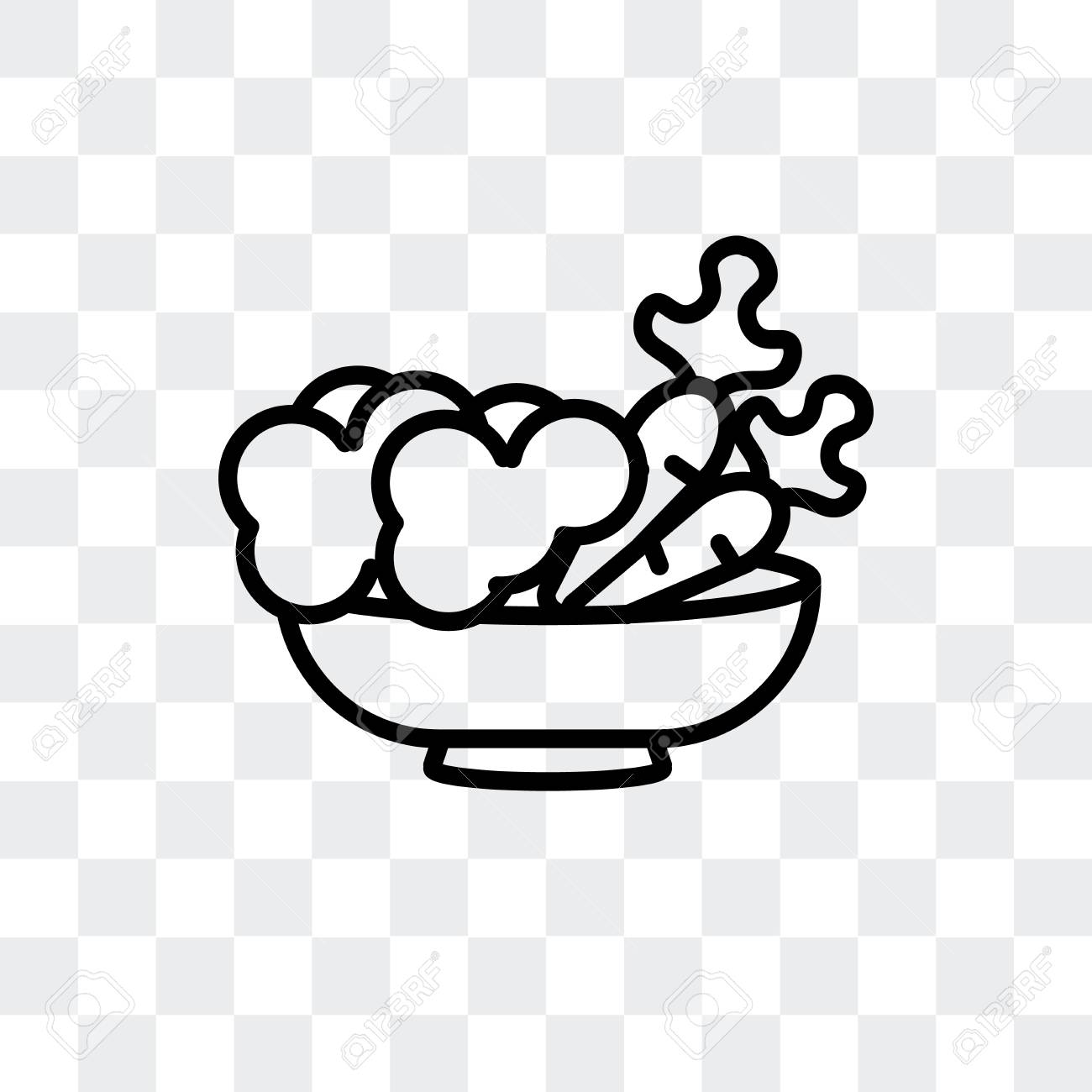 Vegetarian Food Vector Icon Isolated On Transparent Background Royalty Free Cliparts Vectors And Stock Illustration Image 107211242