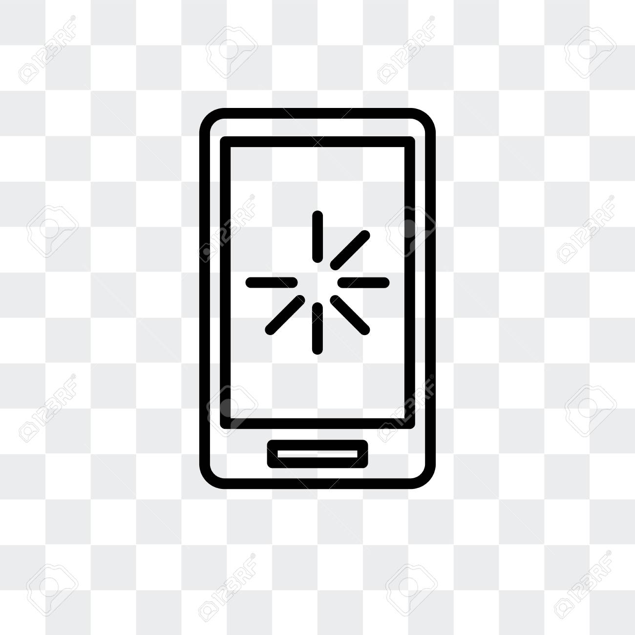 Smartphone Vector Icon Isolated On Transparent Background Smartphone