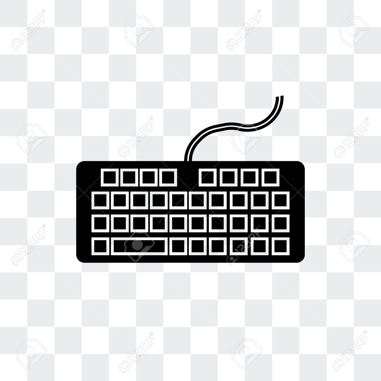 Keyboard Vector Icon Isolated On Transparent Background Keyboard Royalty Free Cliparts Vectors And Stock Illustration Image 107224660