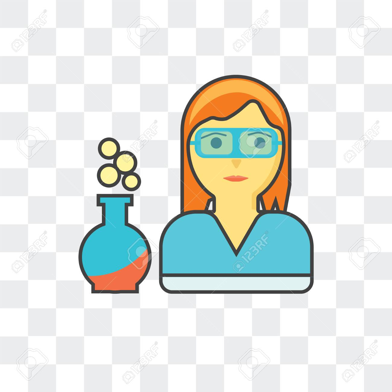 scientist vector icon isolated on transparent background scientist royalty free cliparts vectors and stock illustration image 107223316 scientist vector icon isolated on transparent background scientist
