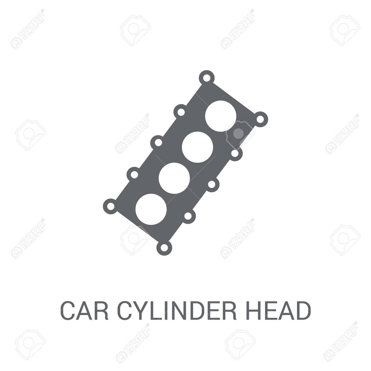 Car Cylinder Head Icon Trendy Car Cylinder Head Logo Concept