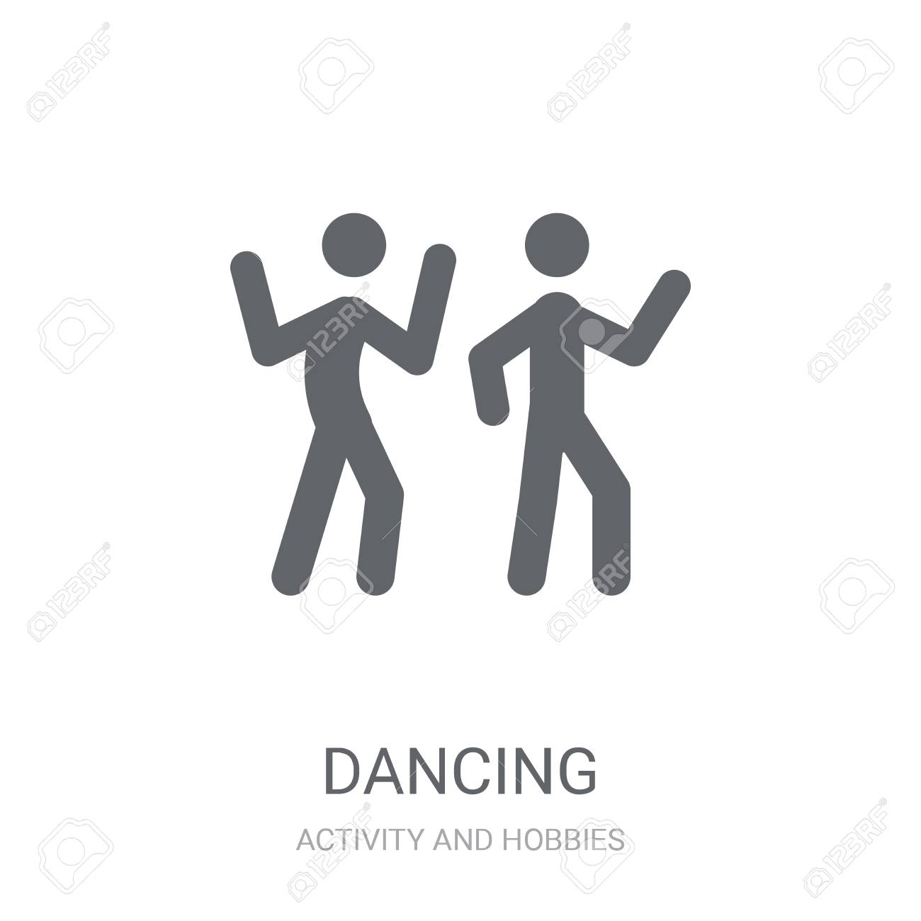 Dancing icon  Trendy Dancing logo concept on white background