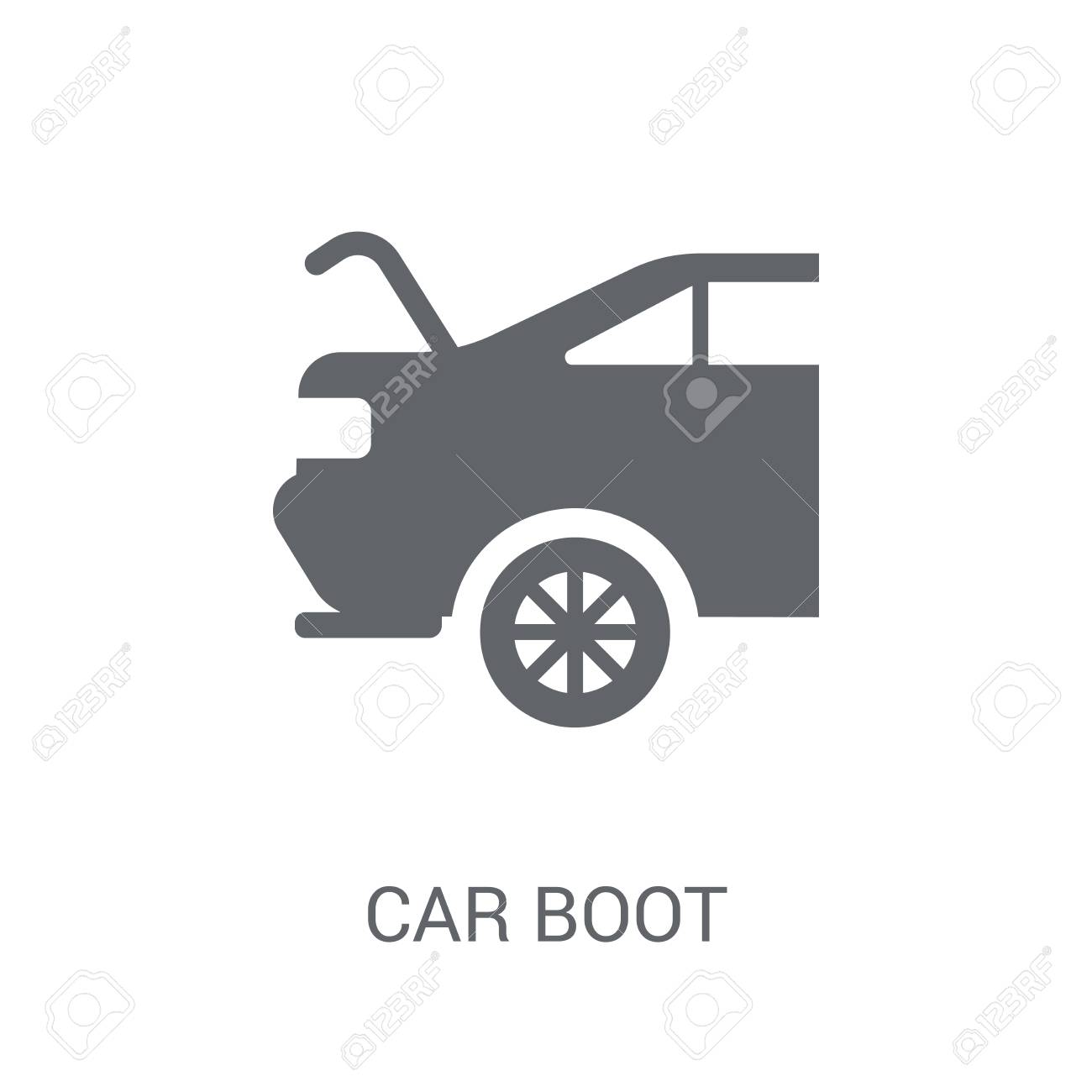 car boot icon. Trendy car boot logo concept on white background from car parts collection. Suitable for use on web apps, mobile apps and print media. - 111989028