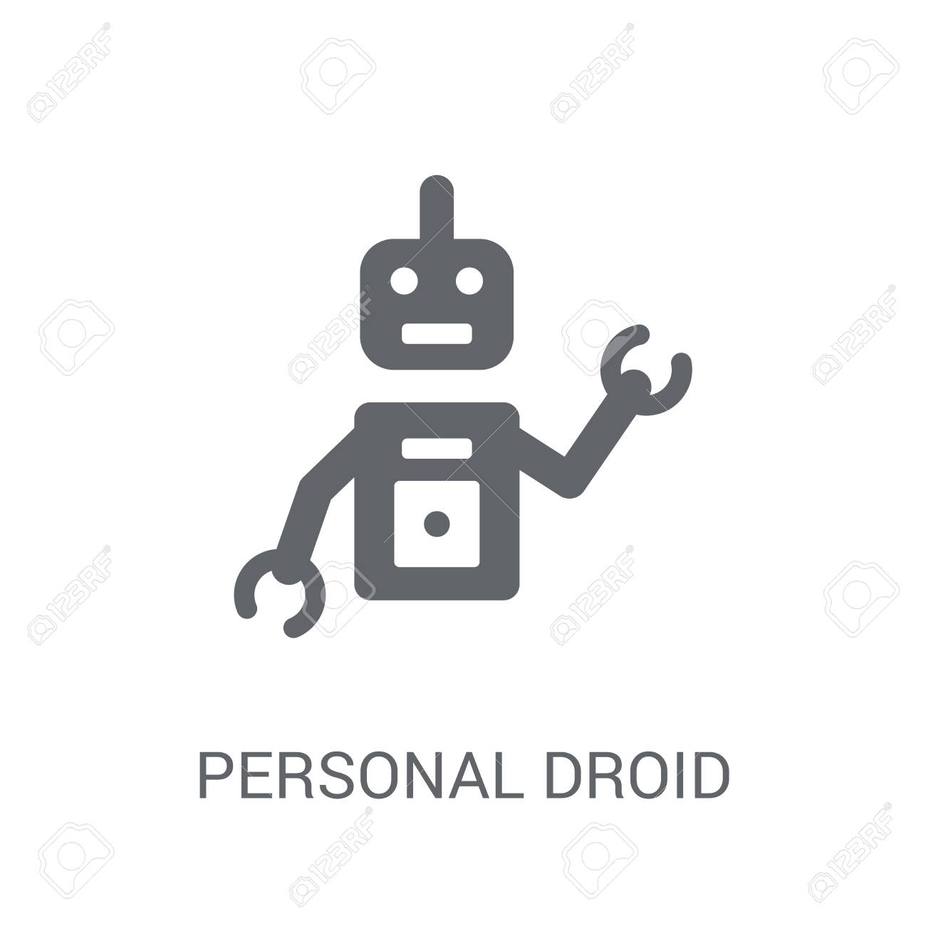 Personal droid icon  Trendy Personal droid logo concept on white