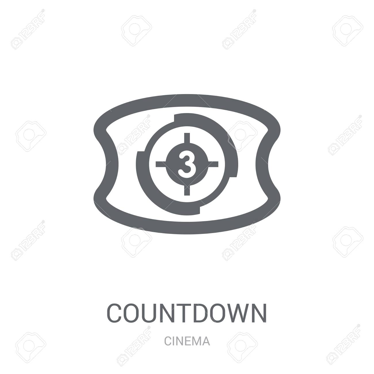 Countdown icon  Trendy Countdown logo concept on white background