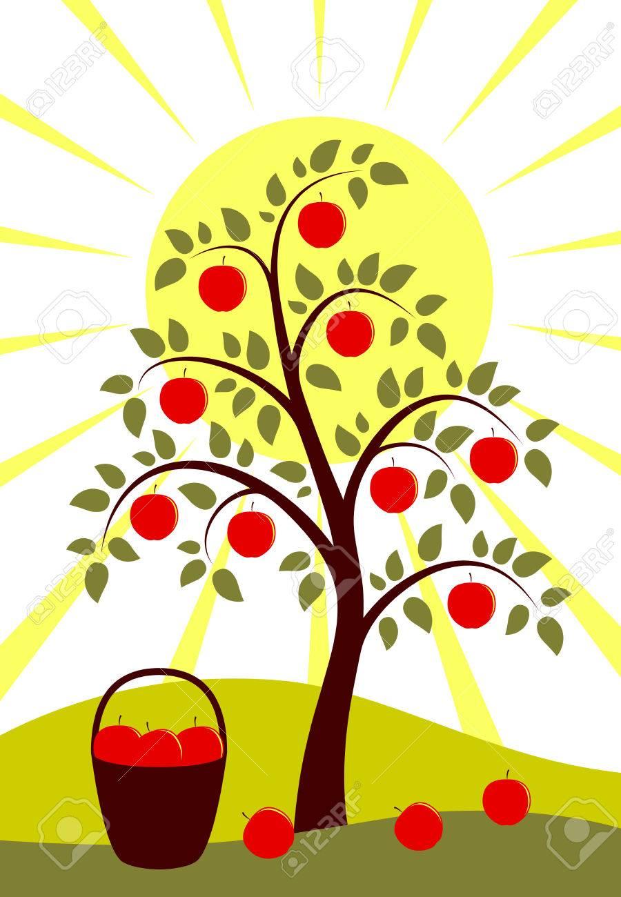 tree and sun Stock Vector - 7885906