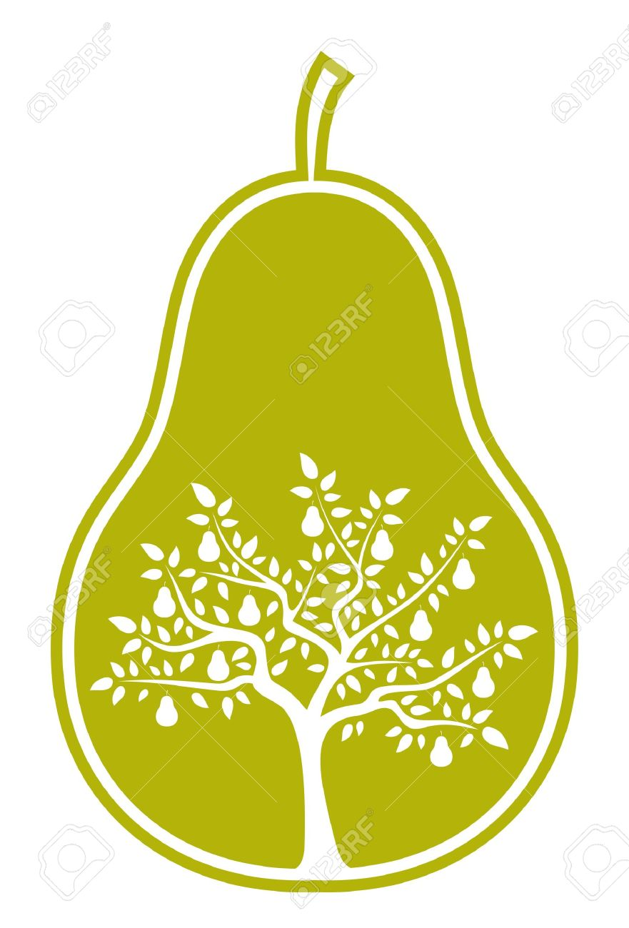 pear tree in pear Stock Vector - 9356718