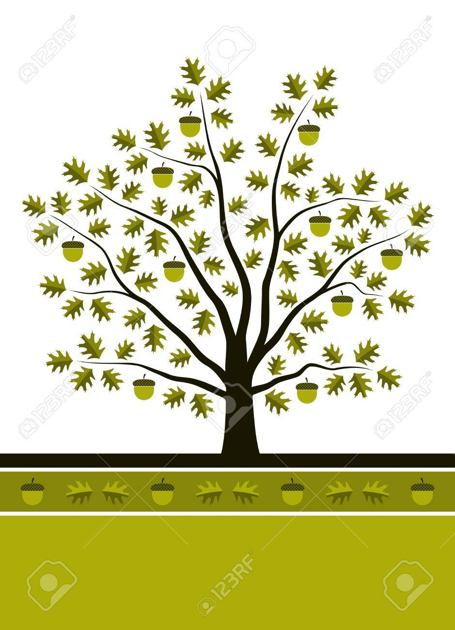 oak tree background Stock Vector - 9550193