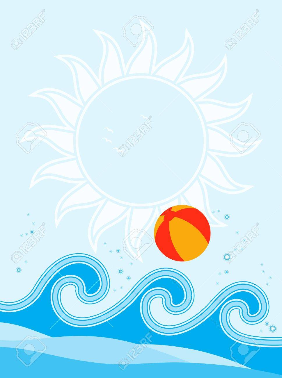 Beach Wave Background Waves And Beach Ball