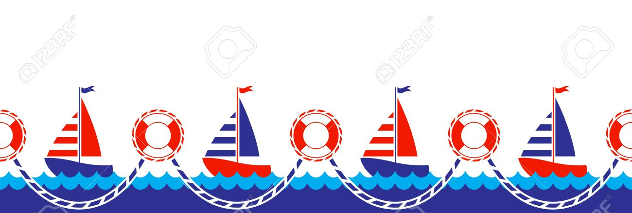 seamless nautical border royalty free cliparts vectors and stock rh 123rf com nautical border clip art free Nautical Wheel Clip Art