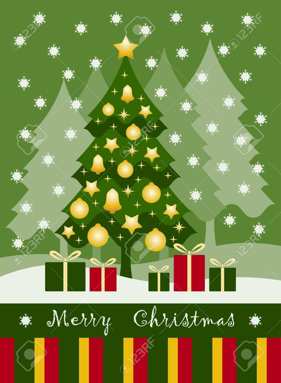 Christmas card Stock Vector - 10597023