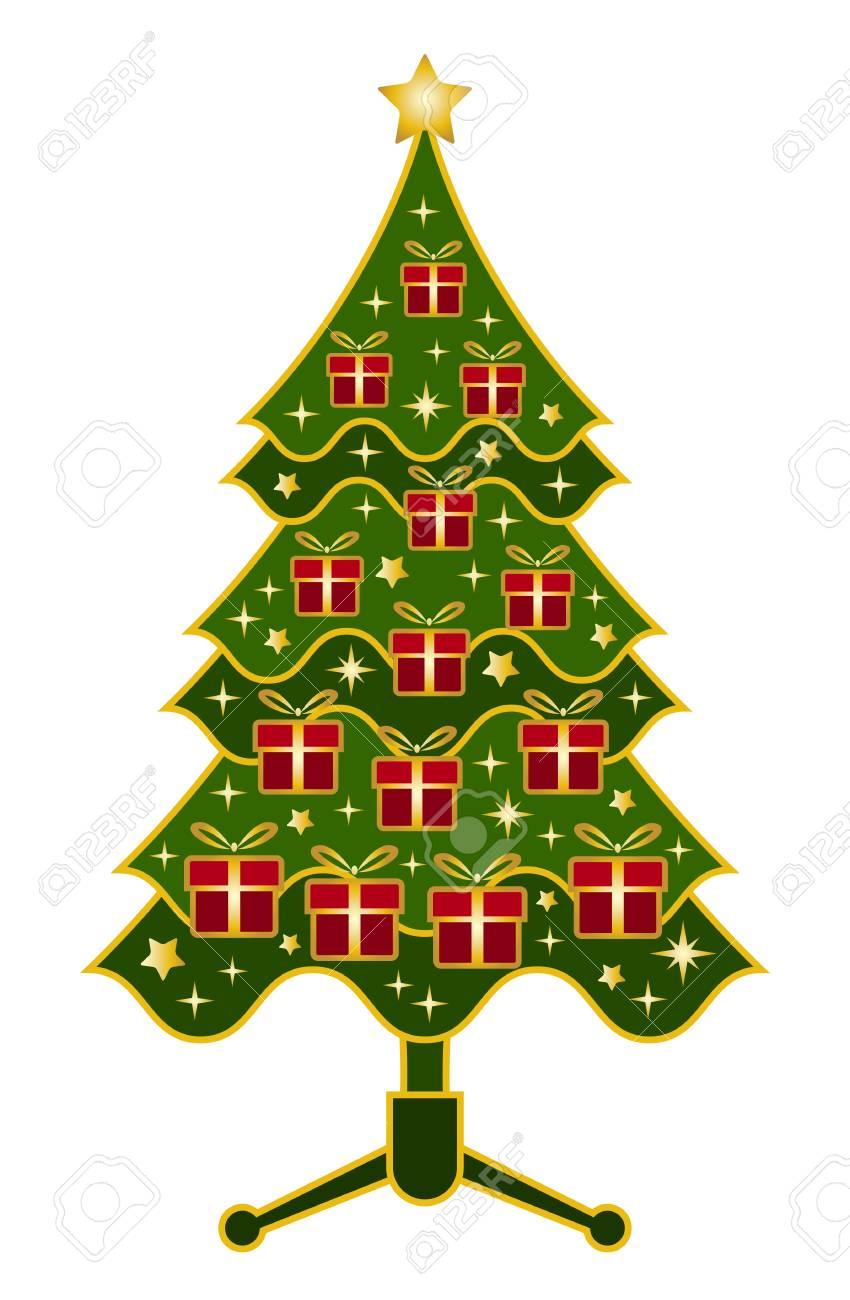 vector christmas tree on white background Stock Vector - 11580020