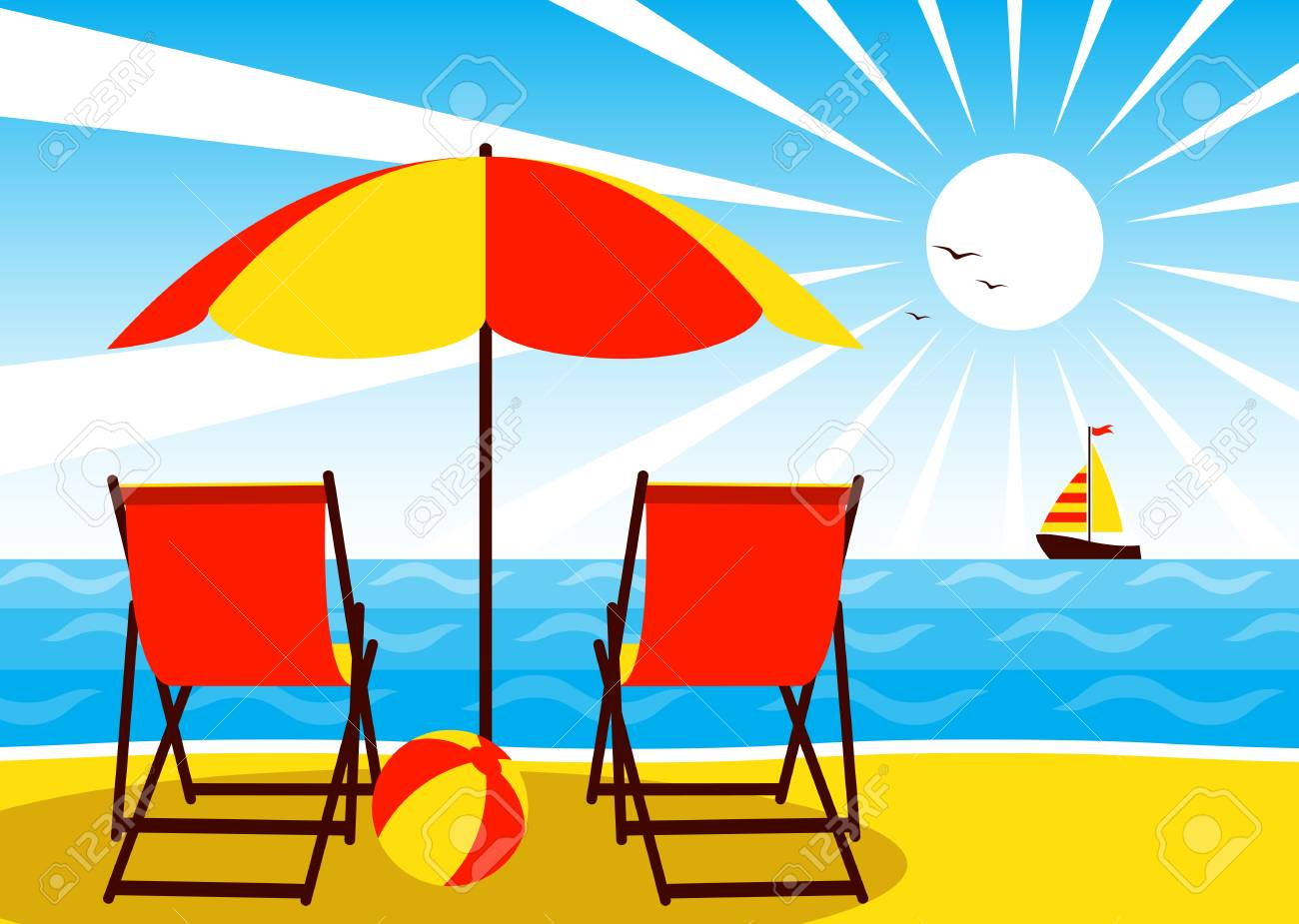 Sonnenschirm Strand Clipart