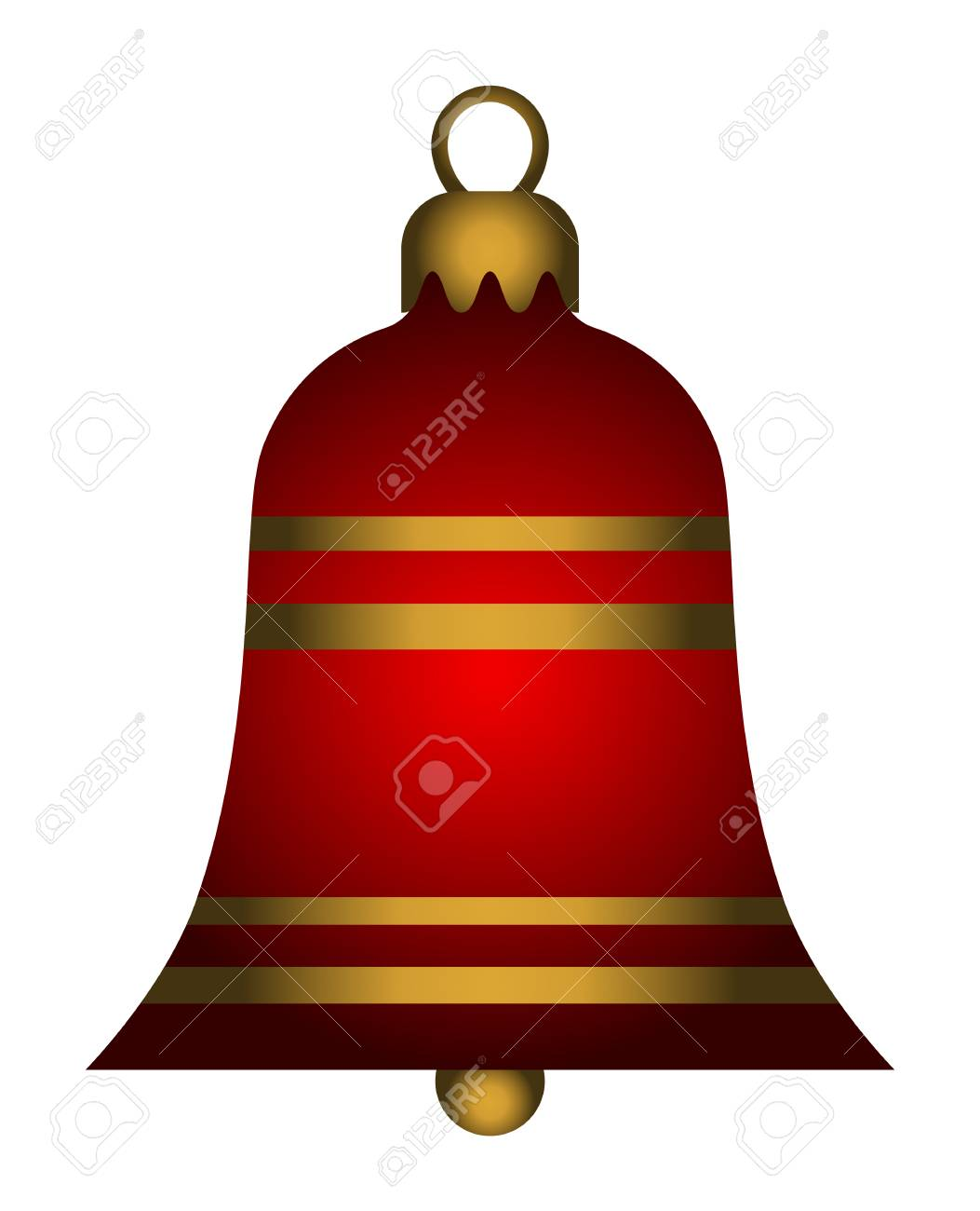 Christmas Bell.Christmas Bell Isolated On White Background