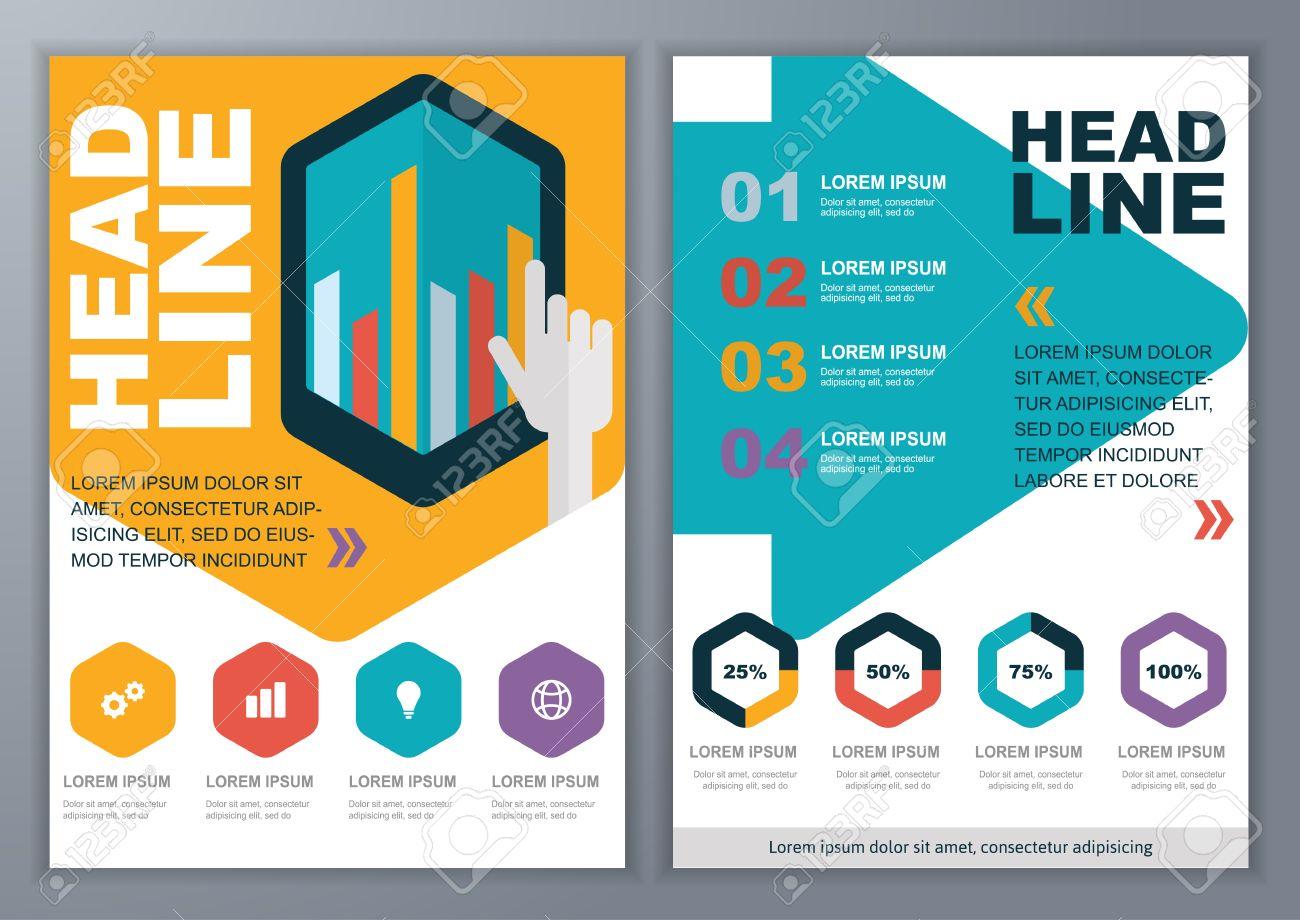 set of vector template for brochure flyer poster application set of vector template for brochure flyer poster application and online service