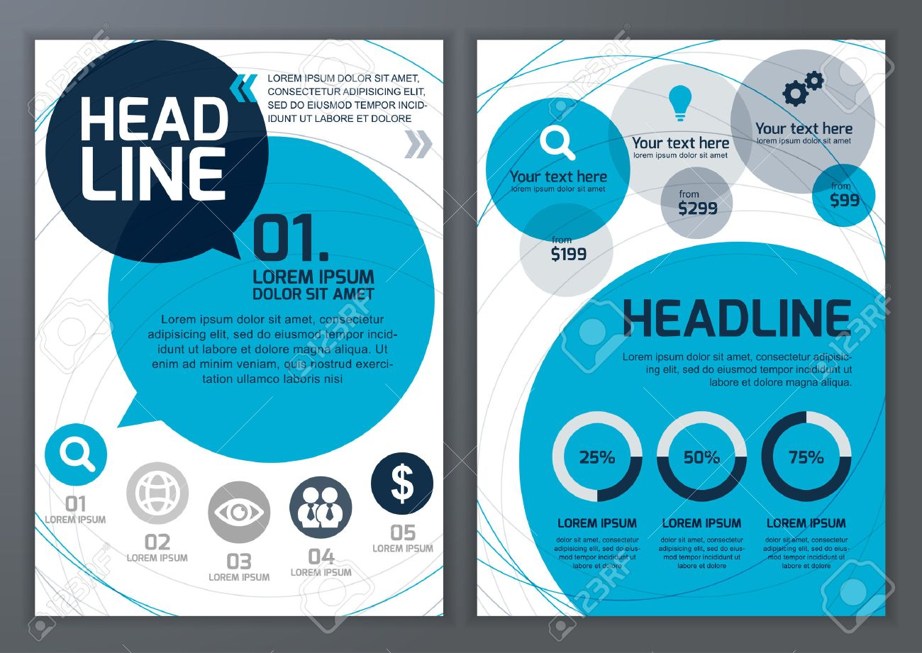 Set Of Vector Template For Brochure Flyer Poster Application - Brochure online template