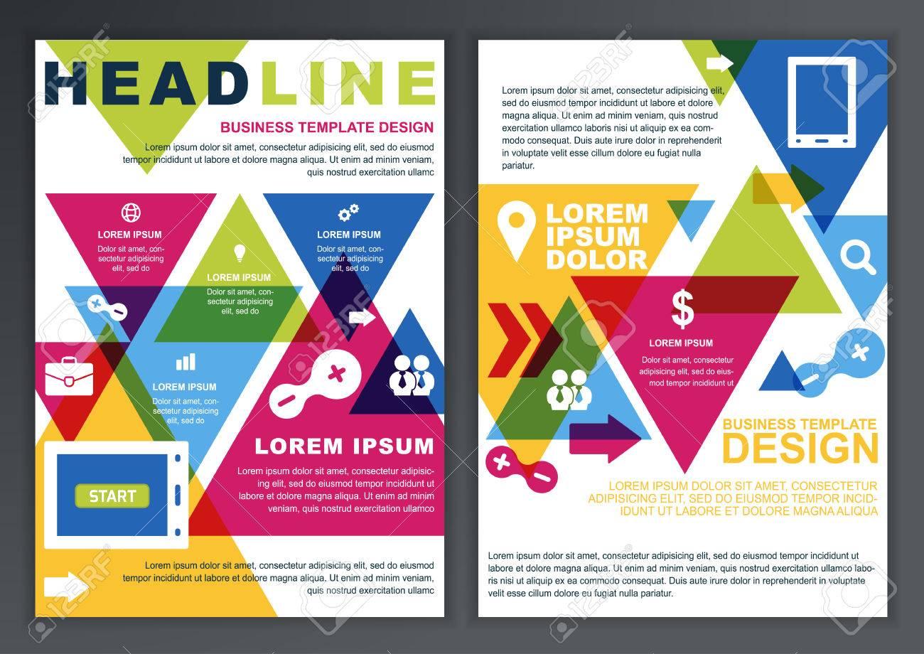 Set Of Vector Design Template For Business Brochure Flyer - Brochure online template