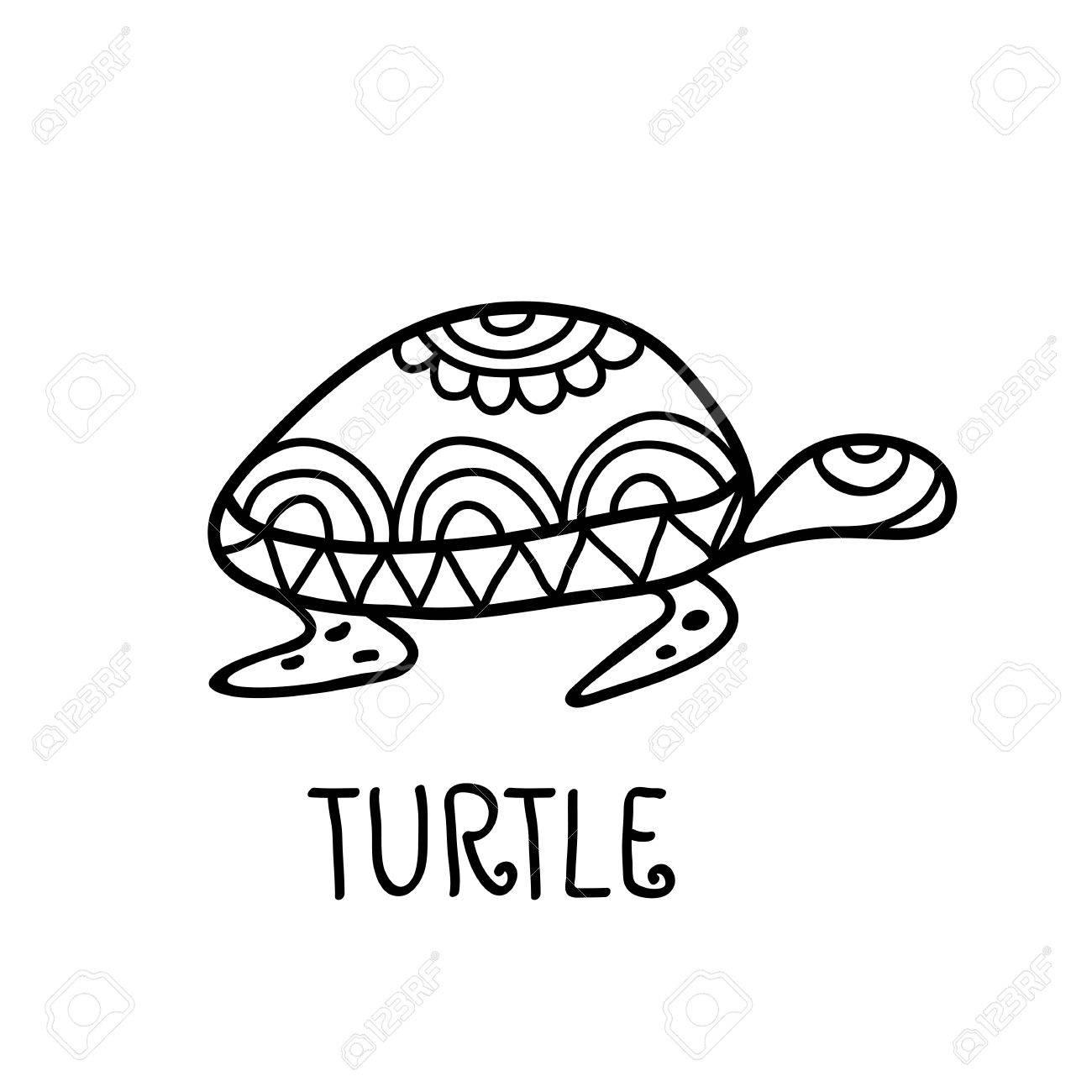 Hand drawn turtle tribal symbol vector decorative illustration hand drawn turtle tribal symbol vector decorative illustration background logo design template stock biocorpaavc