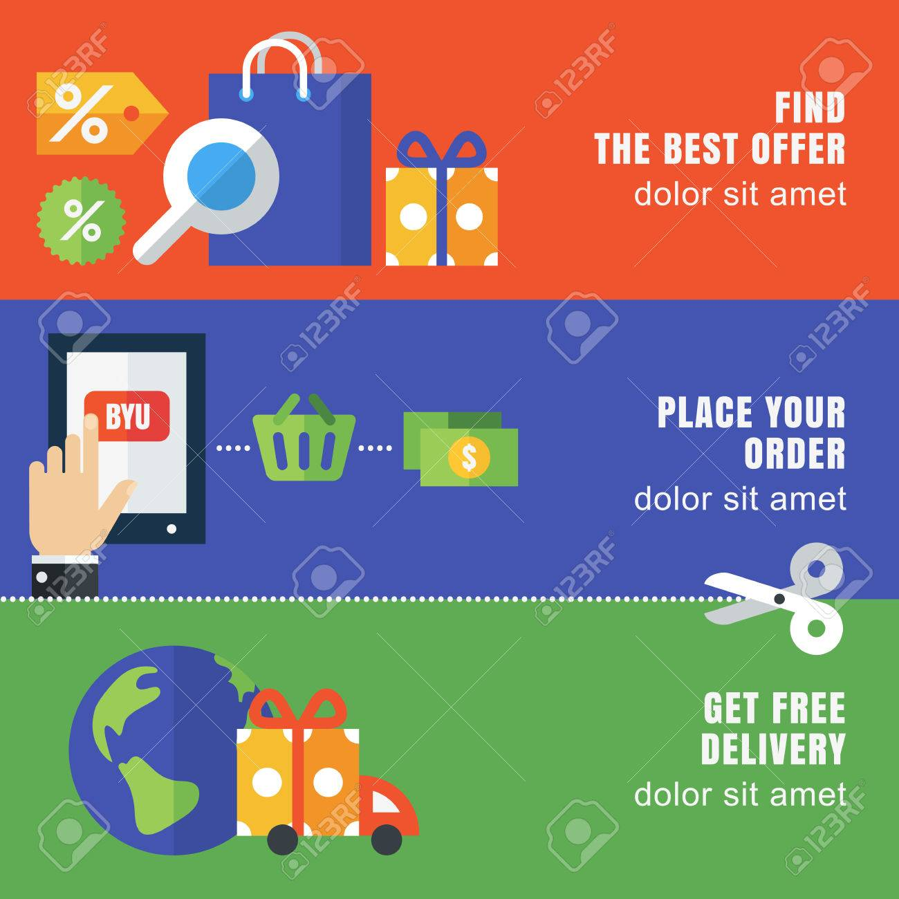 Set Of Flat Banner Template Abstract Vector Background Design Royalty Free Cliparts Vectors And Stock Illustration Image 40392522