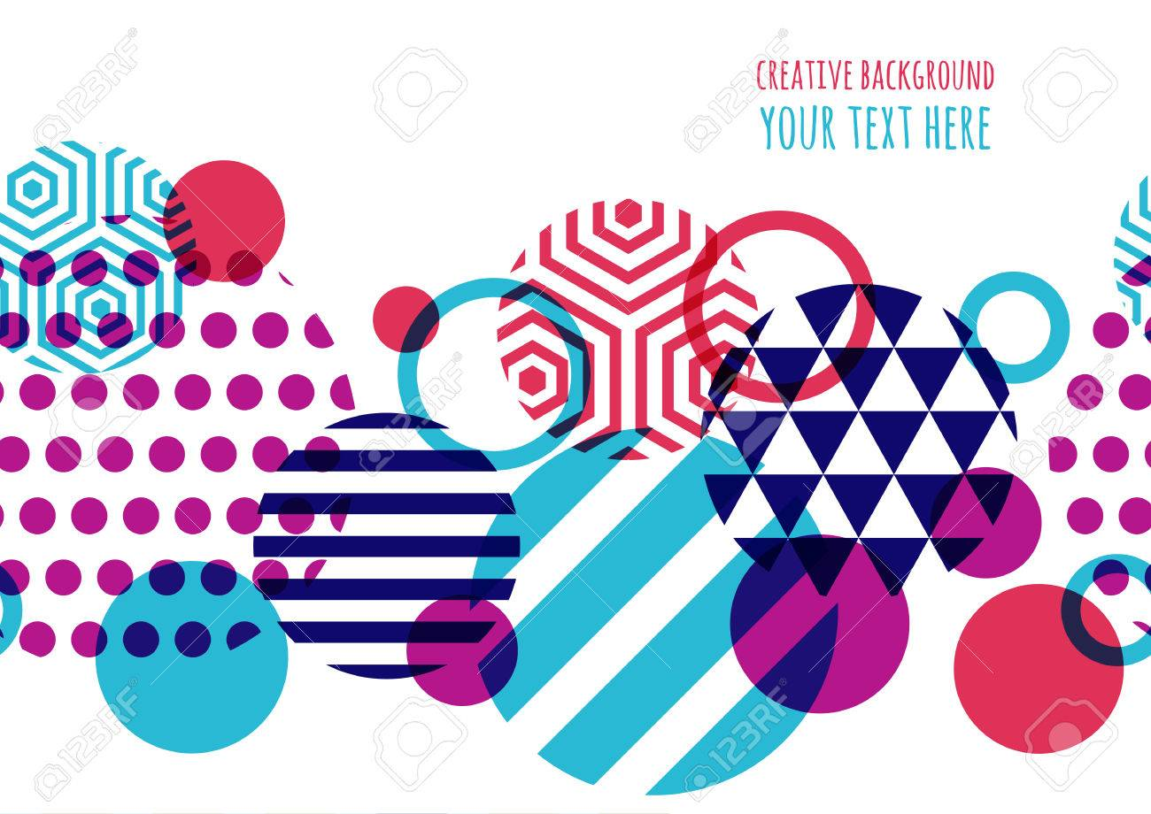 Seamless vector geometric background with place for text abstract imagens seamless vector geometric background with place for text abstract creative concept for flyer invitation greeting card poster design stopboris Choice Image