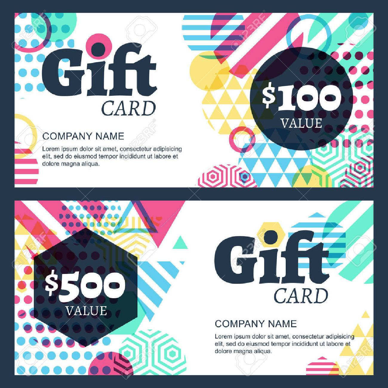 creative gift voucher or card background template Stock Vector - 44226373