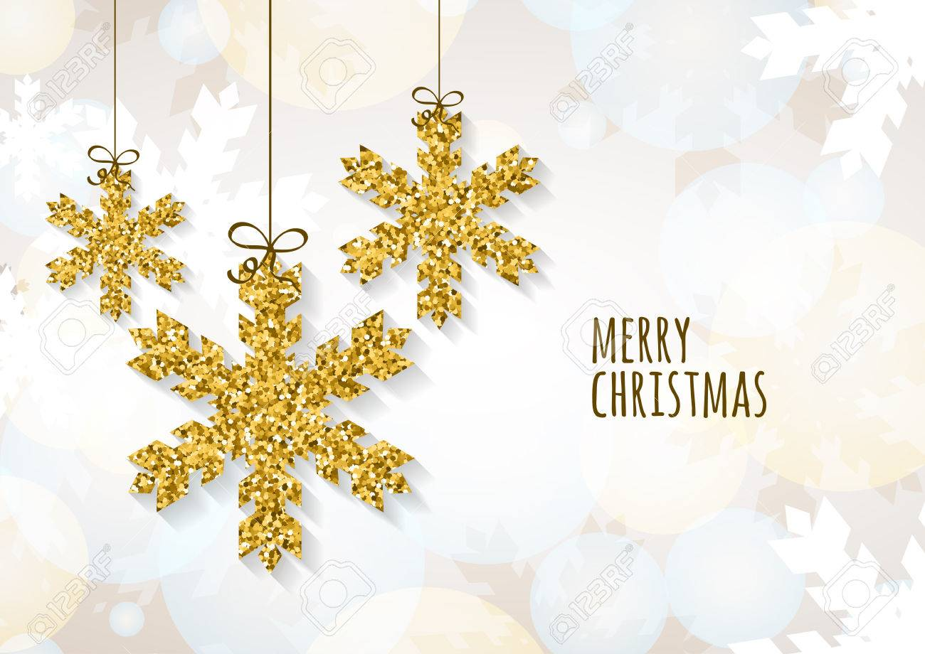Vector Christmas Or New Year Greeting Card Template With Golden – New Year Greeting Card Template