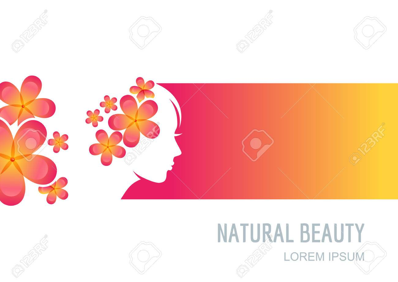 Female Face On Colorful Background Woman With Flowers In Hair Royalty Free Cliparts Vectors And Stock Illustration Image 55628530