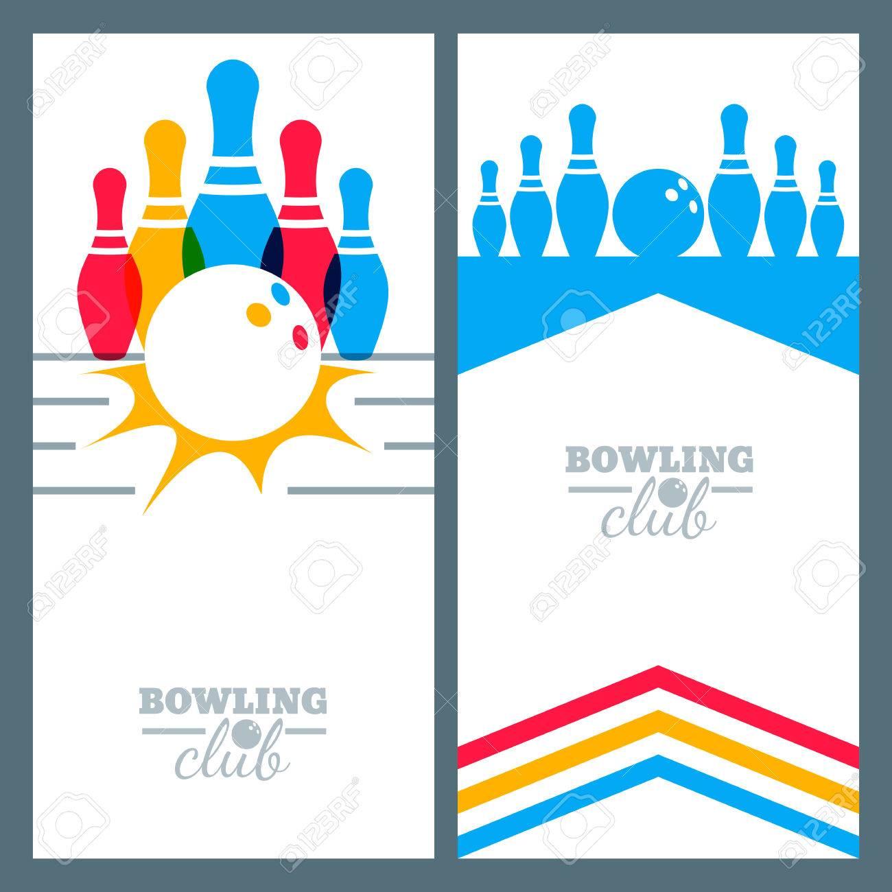 Design elements banner - Set Of Bowling Banner Backgrounds Poster Flyer Or Label Design Elements Abstract Vector