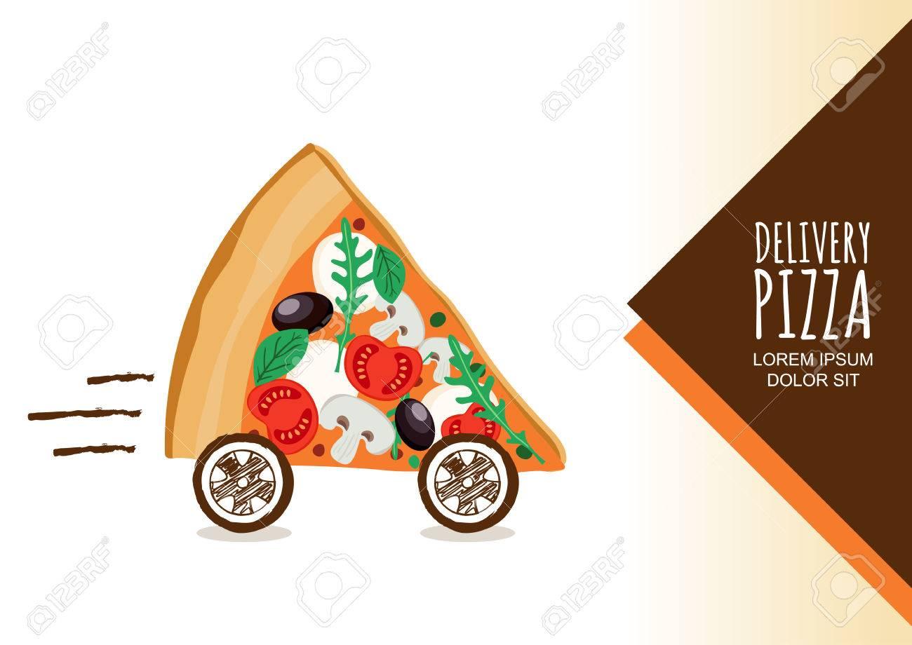 Diseño Del Vector Para La Entrega De Pizza, Menú De Un Restaurante ...