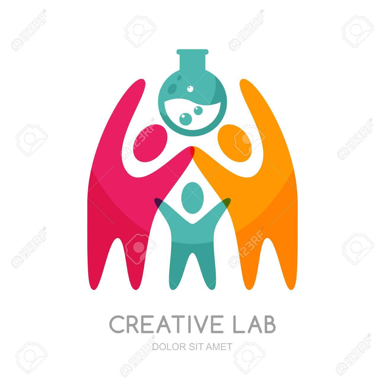 Logo Humana Vector O Diseño Del Emblema. Resumen Personas Llevan ...