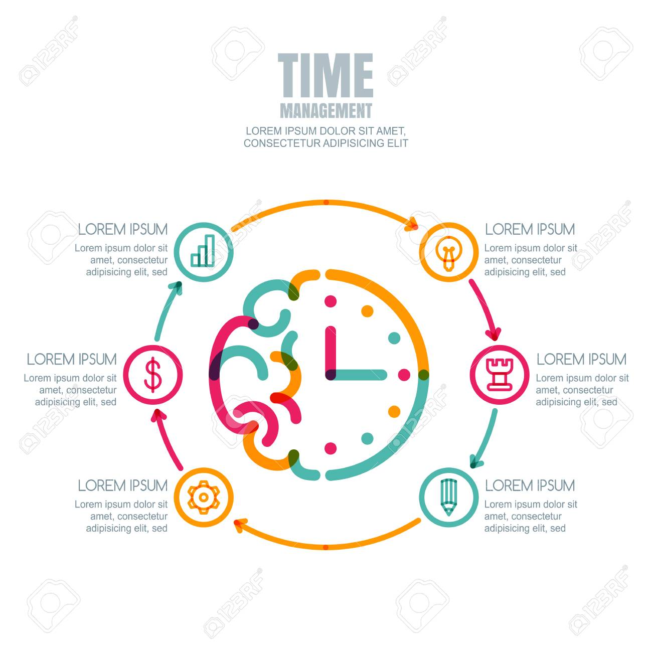 Time Management Planning Business Concept Vector Infographics