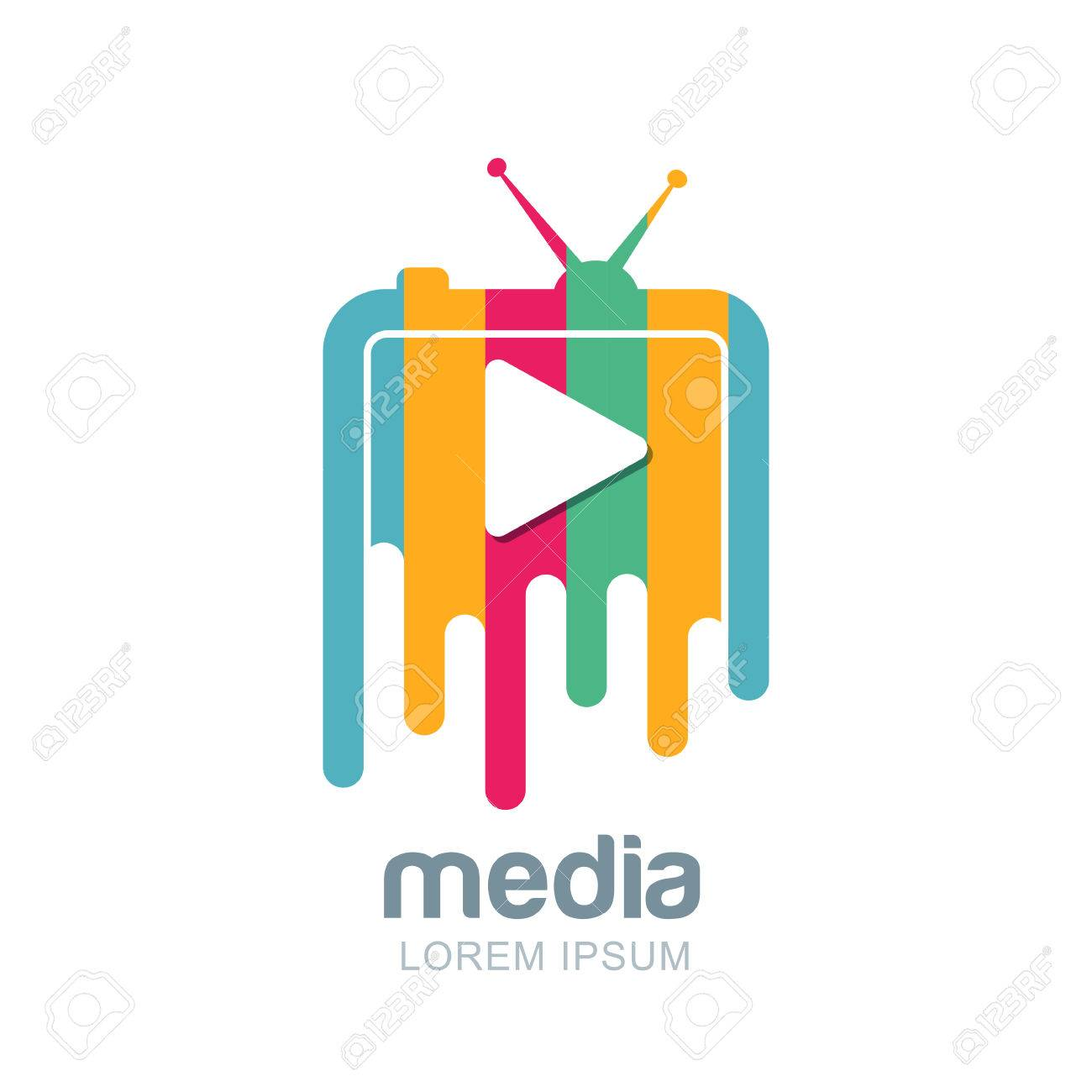 media and tv news vector design template television broadcast