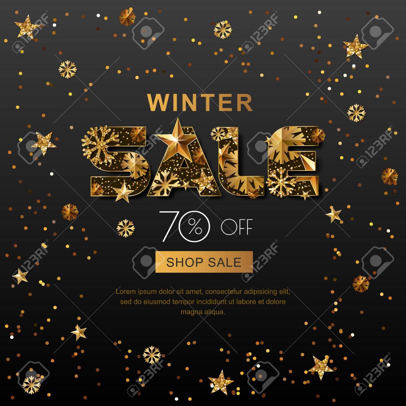 Winter Sale Banners Cartoon Banners