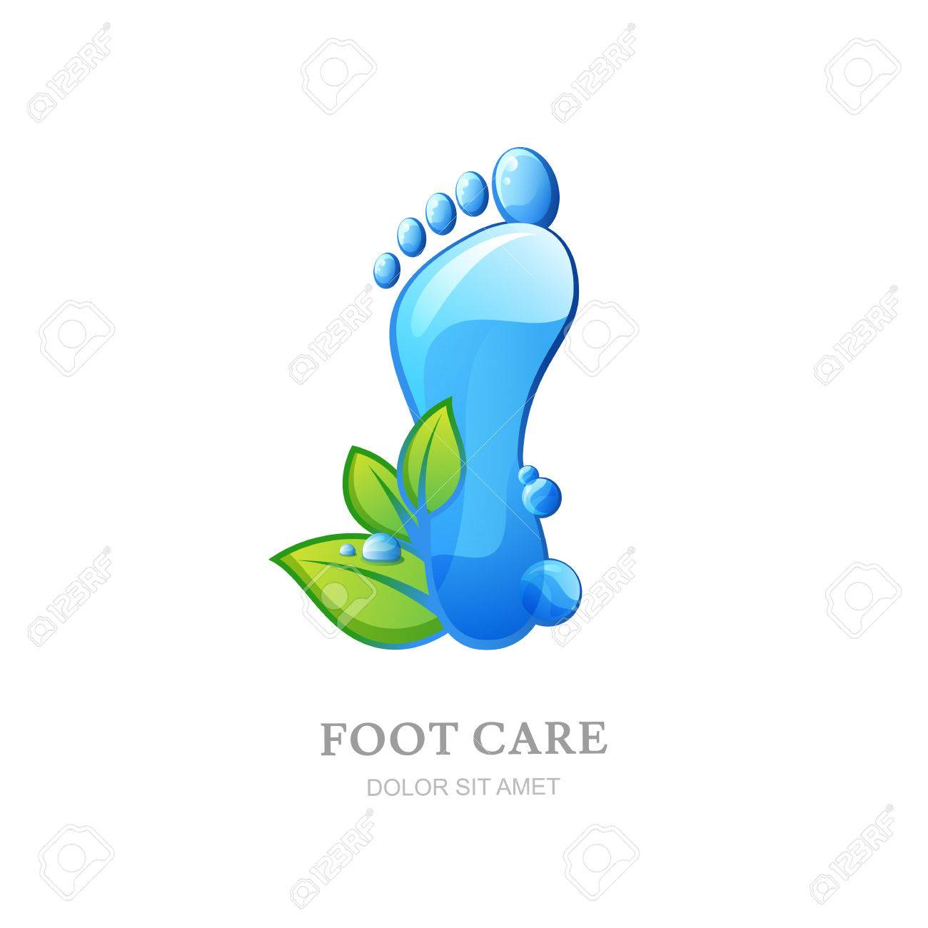 Female Sole With Clean Water Texture And Green Leaves Concept For Beauty Salon Pedicure Cosmetics Organic Body Care Spa