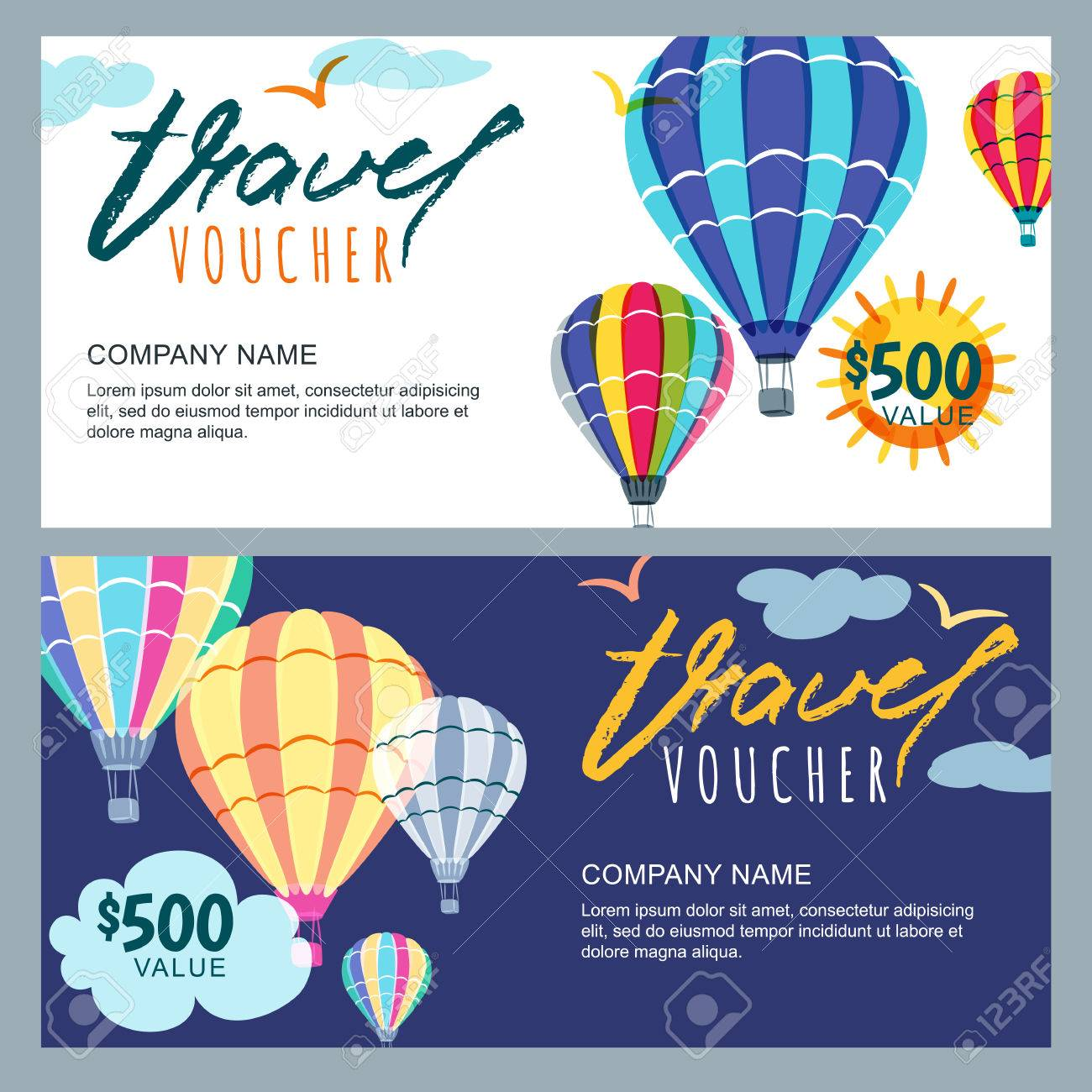 Gift Travel Voucher Template. Royalty Free Cliparts, Vectors, And ...