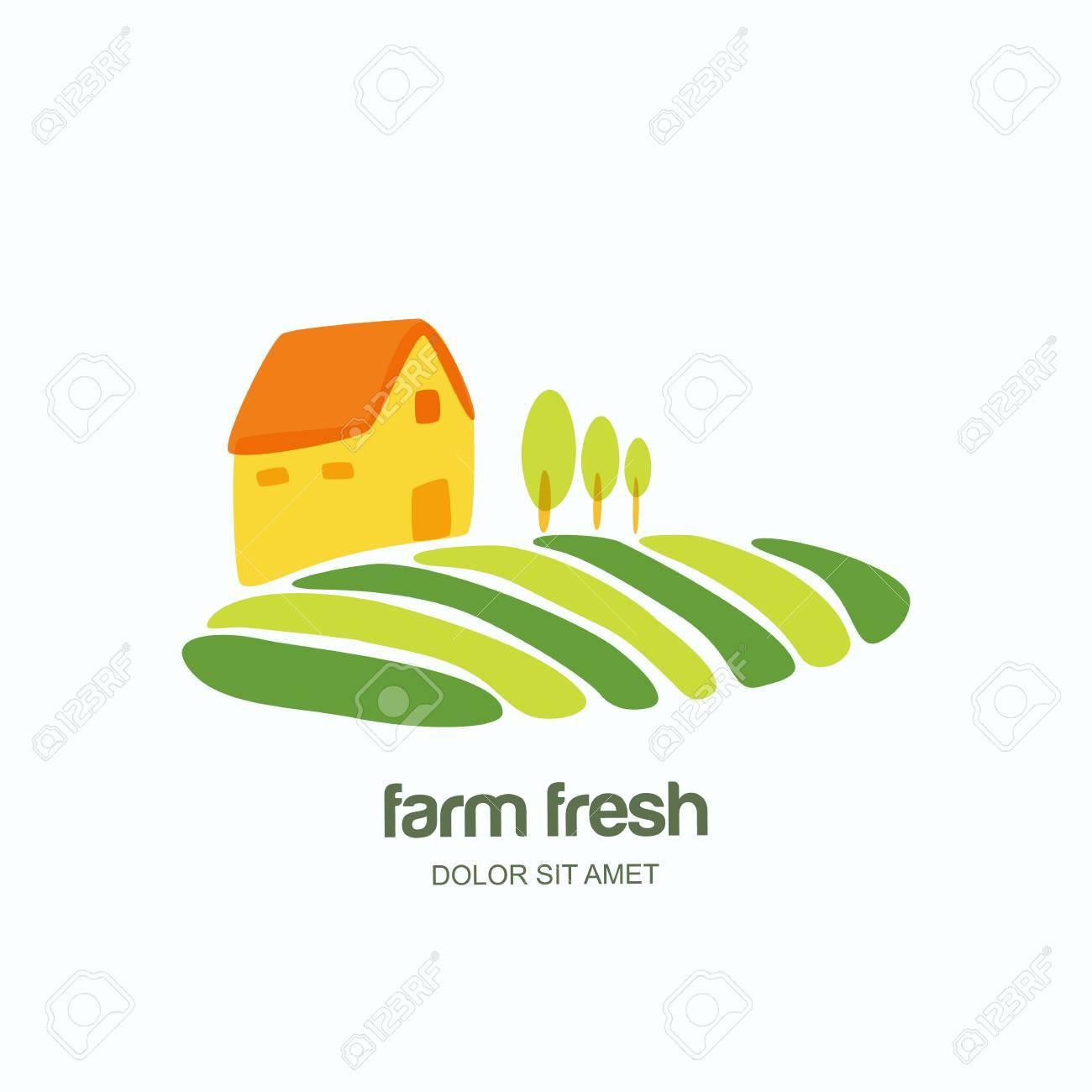 Farm And Farming Vector Logo, Label, Emblem Design Template ...