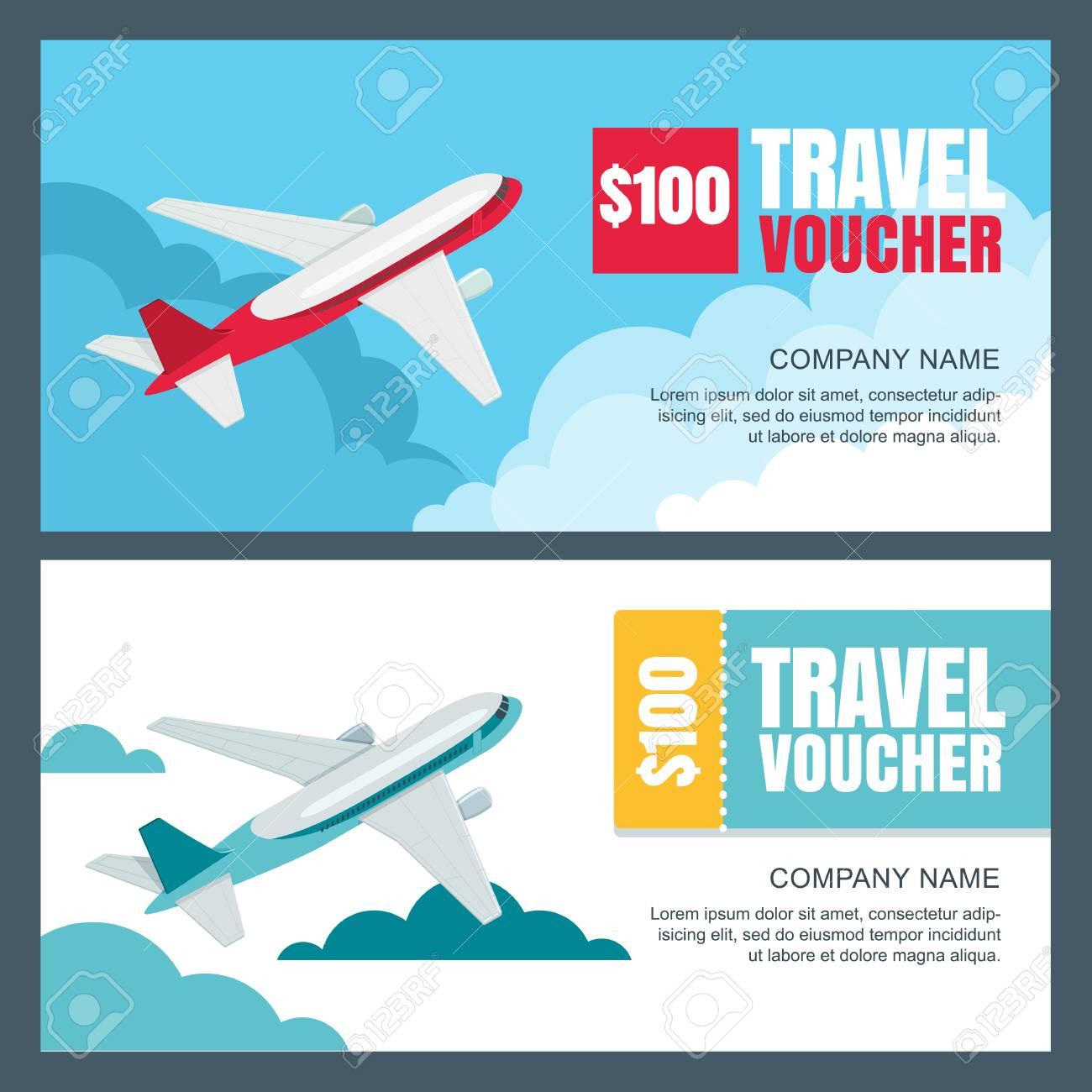 Vector Gift Travel Voucher Template 3d Isometric Illustration
