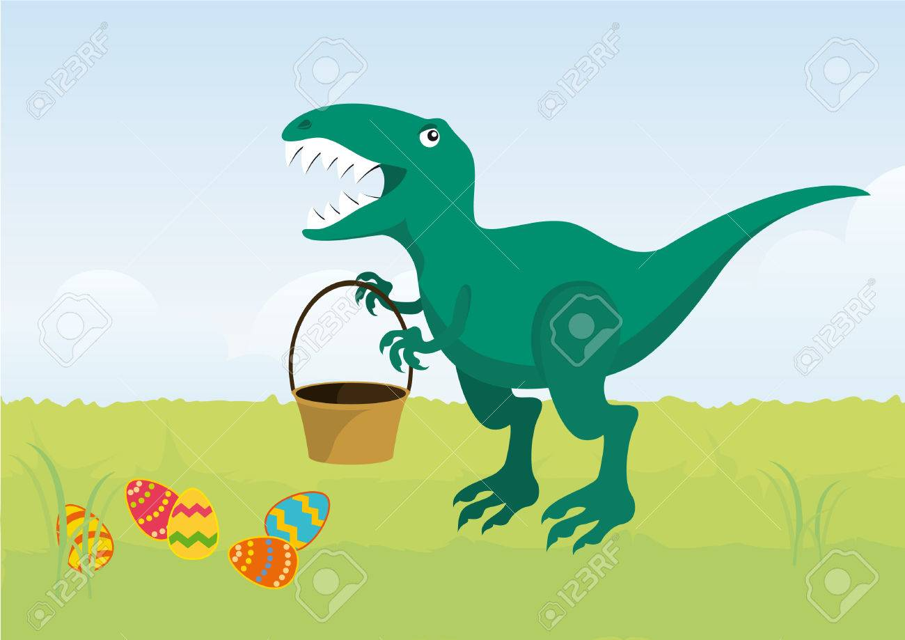 angry easter t rex cartoon character t rex easter dinosaur