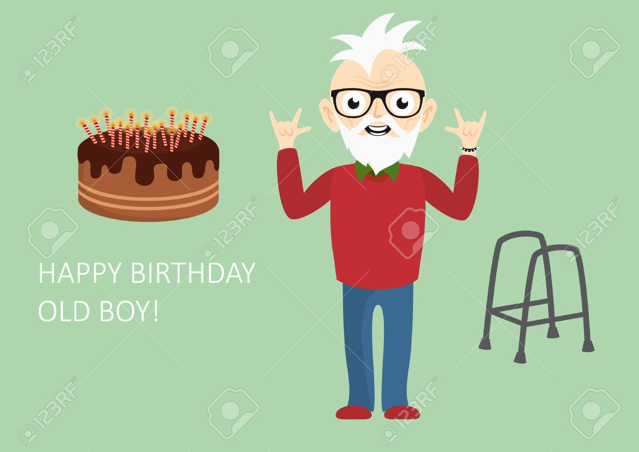 happy birthday old boy funny birthday card for the still young
