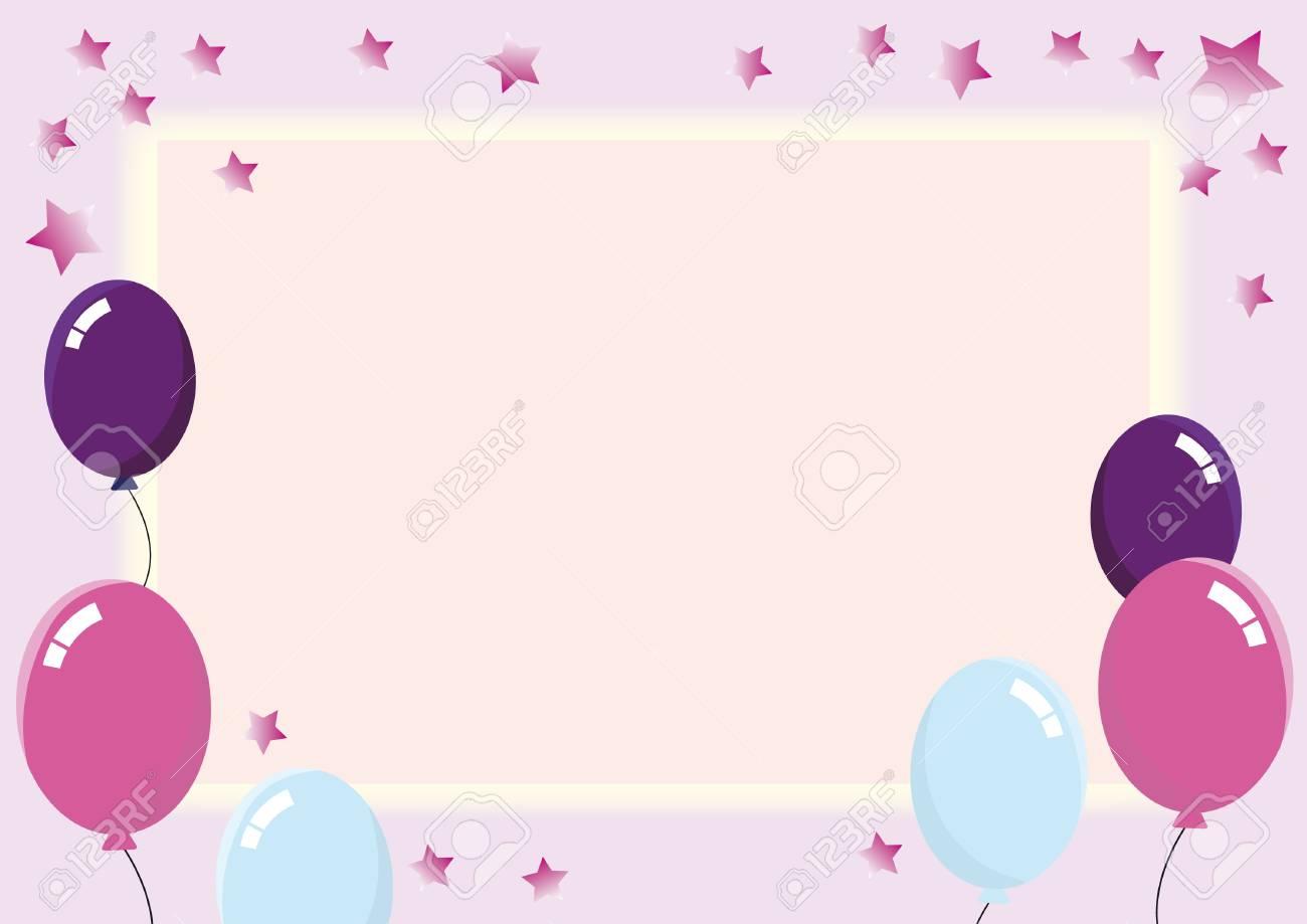 Feliz Cumpleaños Dulce Tarjeta De Cumpleaños Para El Bebé Invitaciones Rosadas De La Fiesta