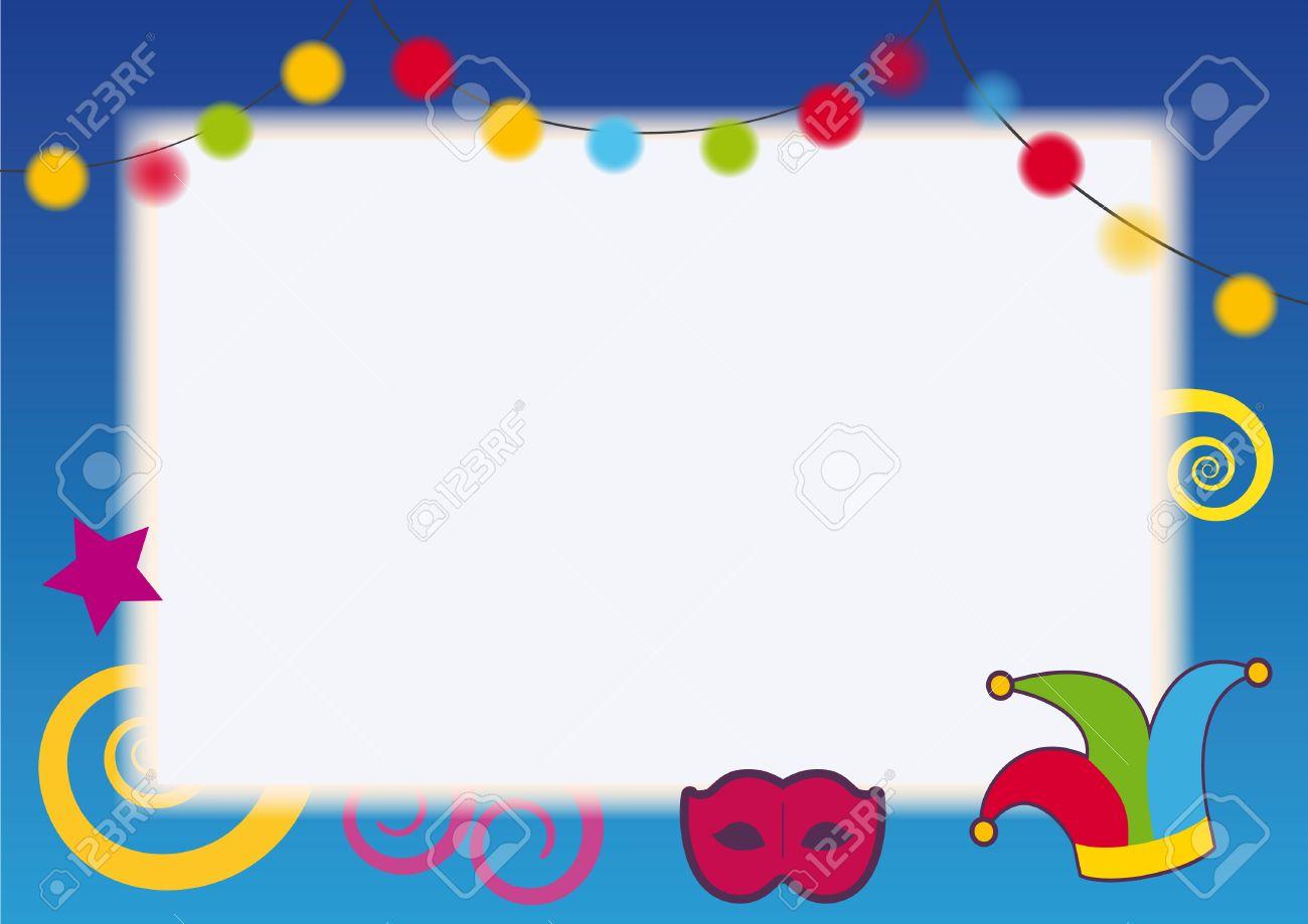 Festival-Party-Rahmen. Karneval-Party Einladungen. Geburtstag Vektor ...