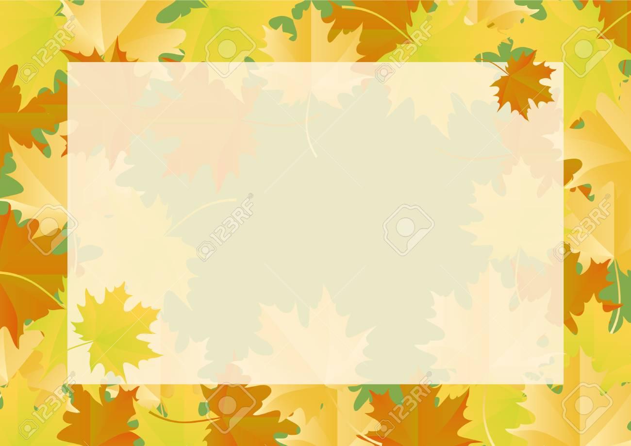 autumn frame autumn leaves border royalty free cliparts vectors