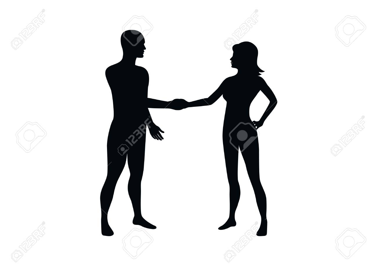 man and woman silhouette vector people shaking hands icon rh 123rf com woman silhouette vector image woman silhouette vector png